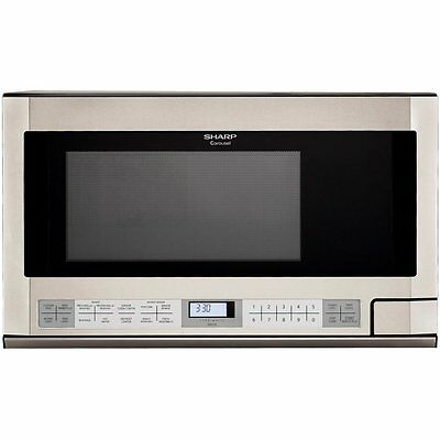 Sharp Carousel Over-The-Counter Microwave 1.5 Cu. Ft 1100W Stainless Steel R1214