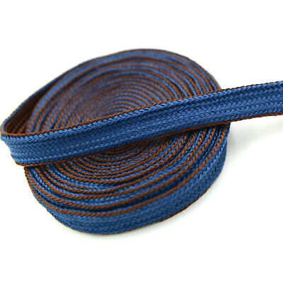 High quality Bicolourable Blue Coffee Silk Sageo cord For Japanese Samurai Sword
