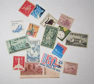 16 Unused United States Stamps Old Nice collection Air Mail & More Nice