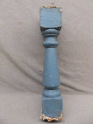 1 Antique Turned Wood Spindle Porch Baluster Thick Old Vtg Architectural 531-17R