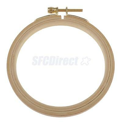 Round Wooden Embroidery Hoop Beech Tapestry Circle Stitch Hoop Ring with Screw