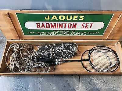 Very Rare Vintage Outdoor Badminton Set by JAQUES of LONDON