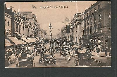 UK 1909 Regent Street London post card to Dundee NY/SSU Ludgate Hill/V&S Ltd