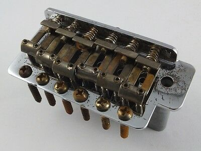Aged Relic LEFT HANDED CHROME TREMOLO BRIDGE for Import Stratocaster guitar