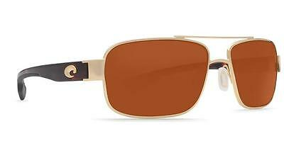 New Costa Del Mar Tower Polarized Sunglasses Gold/Copper 580P Aviator 580 P
