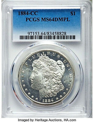 1884-CC Doubled 8 * PCGS MS64 DMPL * Silver MORGAN Dollar $1 VAM 7 DM Proof Like