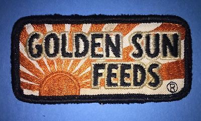 Vintage 1970's Golden Sun Feeds Farm Supply Agriculture Farmer Hat Patch Crest C
