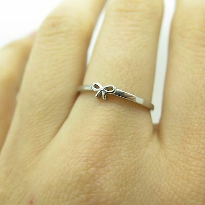 925 Sterling Silver Bow Ring Size 7 1/4