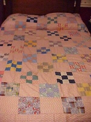 Vintage 1930's 9-Patch Quilt Top 70062