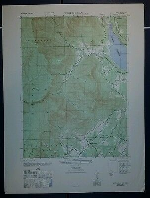 New York vintage 1940's topographic map,  West Shokan New York