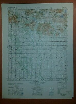 1940's Army Topo map Cache Oklahoma  Sheet 6253 II Fort Sill