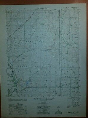 1950 Army Topo map Arbuckle Hill Oklahoma  6253 III NE Fort Sill Aerial Photo