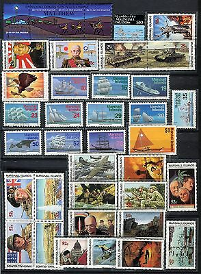 Marshall Islands 1984 - 1994 ***** 35 Mnh Stamps ***** Wwii, Christianity, Ships