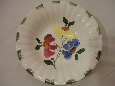 "VINTAGE BLUE RIDGE POTTERY/SOUTHERN POTTERIES Hand Painted 9 1/2"" Serving Bowl"