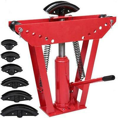 Heavy Duty 12 Ton Hydraulic Manual Pipe Bender 6 Dies Tubing Tube Bending Tool