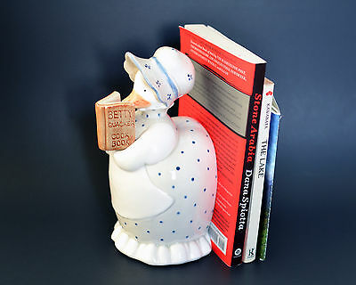 Fitz and Floyd Reading Duck Ceramic Book End Ornament 1984 Betty Quacker Cook