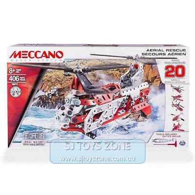 Meccano Maker System Aerial Rescue 20 Model Set - Helicopter 406 Parts Kids Toy