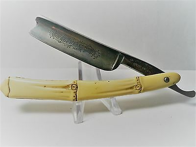 The Roberson Cutlery Rochester Straight Razor with Bamboo Handle