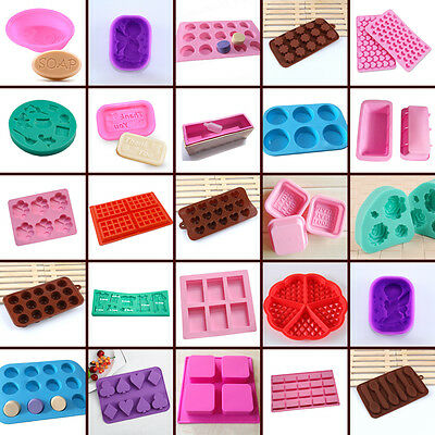 Silicone Cake Mould Baking Muffin Soap Mould Chocolate Candy DIY Bakeware