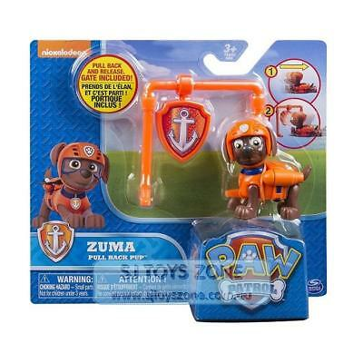 Paw Patrol Action Pack and Badge Assorted - ZUMA Pull Back Pup with Gate Toy