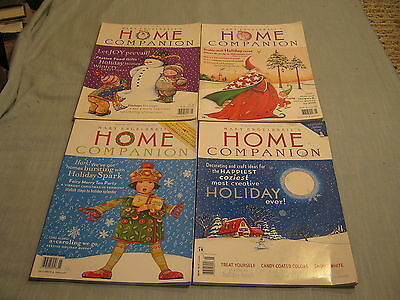 LOT OF 4 MARY ENGELBREIT'S HOME COMPANION Holiday Issue 1997, 1999, 2000, 2001