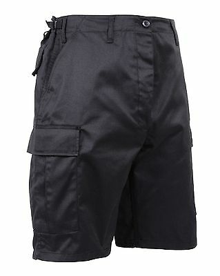 Mens Black BDU Cargo Shorts - Rothco Zip Fly Tactical Combat Shorts 5903