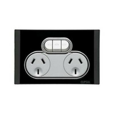 Clipsal Switches Saturn Offer double power point Outlet 4025X EB(Espresso Black)