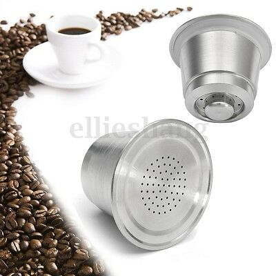 Stainless Steel Reusable Refillable Coffee Capsule Cups Pod For Nespresso