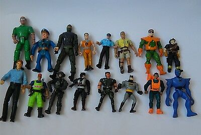 Action Figure Toys Job Lot Of 16 Figures From Various Makers