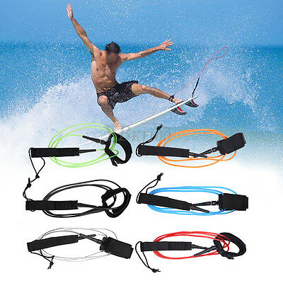 TPU 6ft/5.5mm Surfboard Leash Super Strong Surfing Board Leash String Leg Rope