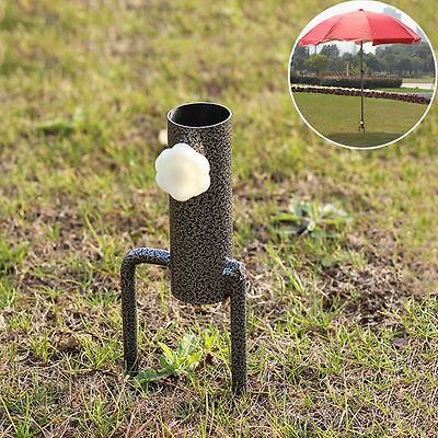 Latest Ground Spike Practical Parasol Umbrella Flags Banner Pole Standing Holder