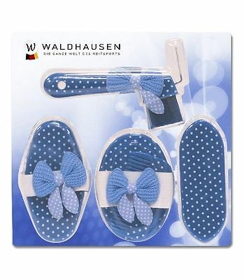 Waldhausen Stylish Pretty Dotties Grooming Five Piece Brush Comb Hoof Pick Set