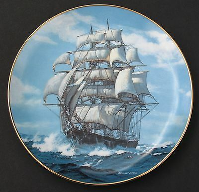 Clipper Ship The Twilight Under Full Sail Charles Vickery 1989 Collector Plate
