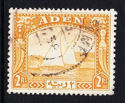 ADEN 1937 2r YELLOW SG 10 FINE USED.