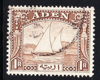 ADEN 1937 1r BROWN SG 9 FINE USED.