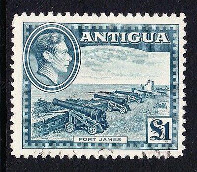 Antigua 1938-51 £1 Slate-Green Sg 109 Fine Used.