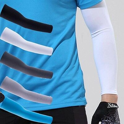 2 X Sun Cooling Arm Sleeves for Cycling Climbing Golf Football Running Sport New
