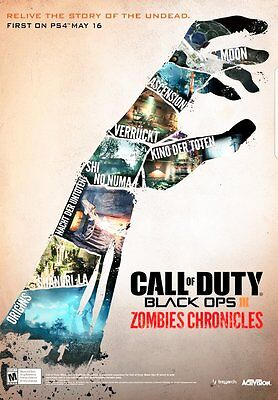 """Call of Duty Black Ops 3 Zombies Chronicles Poster Game Art 13x20"""" 24x36"""" 32x48"""""""