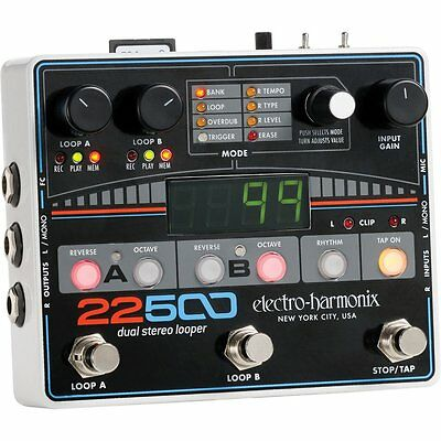 Electro Harmonix 22500 Dual Stereo Looper Pedal for Guitar & Vocals
