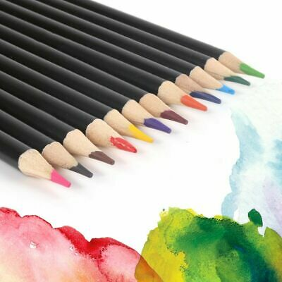 Watercolour Pencils Set Colour Drawings Artists Art Canvas Fabric Paint Painting