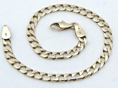 """9ct 9Carat Yellow Gold Square Curb Linked Bracelet 7.00"""" Inches UK FULL HALLMARK"""