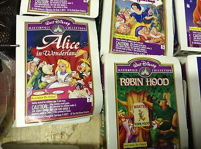 Lot of 8 McDonalds Disney Ornaments Masterpiece Collection Toys 1980s VHS box
