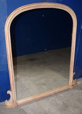 ~Antique ~Victorian ~Overmantle ~Large Mirror ~Arch Top ~Pine Frame ~VGC~