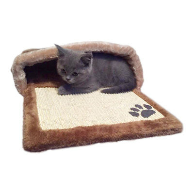Charles Bentley Soft Brown Cave H22xW67xD37  Animal Winter Durable Mat Cats Dog