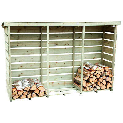 Charles Bentley Triple Log Store Made of Nordic Spruce - Heavy Duty