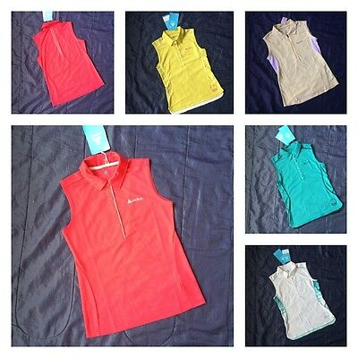 Womens ODLO Sleeveless Polo Shirt Small Active Sports Ladies Golf Top T-Shirt