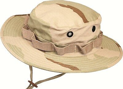Highlander Desert Camo BOONIE HAT Mens Tough Rip-Stop Fabric Sun Summer