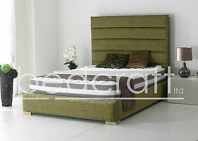 Double King Single Tall Headboard Tuscany Bed Fabric Leather Velvet Many Colours
