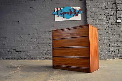 Vintage Retro Mid Century Teak Small Chest of Drawers Danish Scandi Style