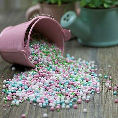 Pretty Flamingo Sprinkles Mix Cupcake / Cake Decorations birthday, pearls